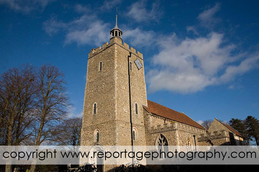 Essex wedding photographer at Felsted Church