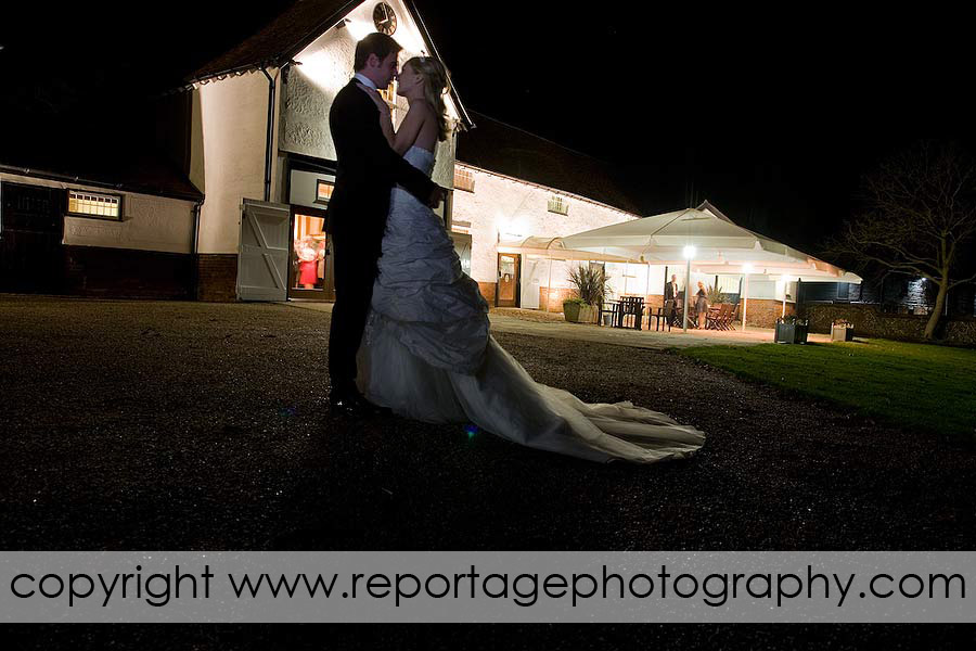 Spains Hall wedding photograph at the Stables