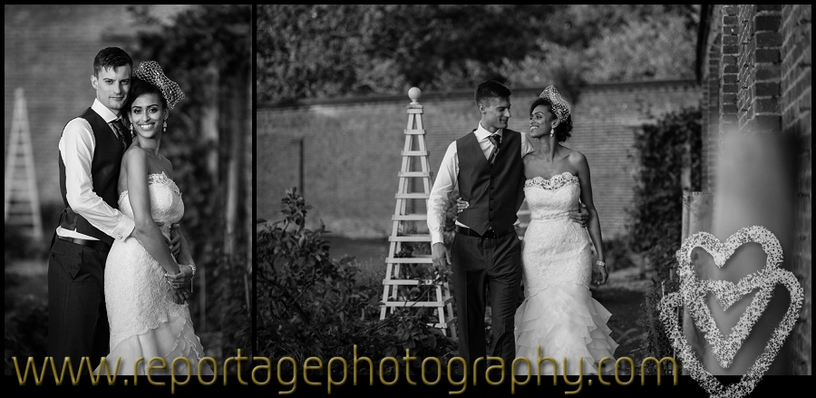 Luton Hoo walled garden wedding photograper