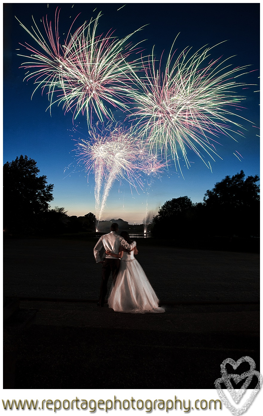 Boreham House wedding fireworks