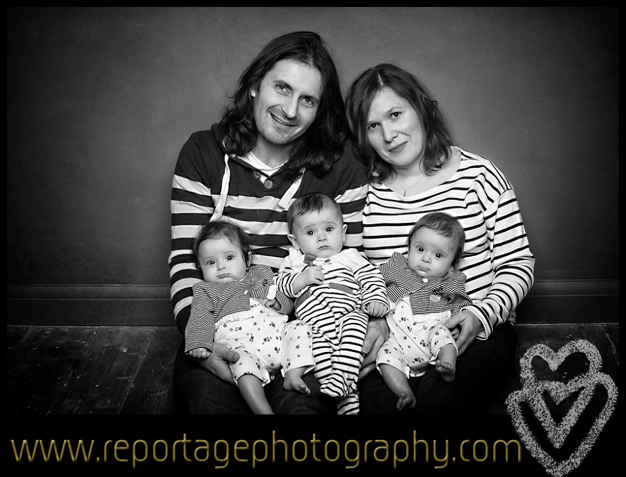 Essex portrait photographer of triplets