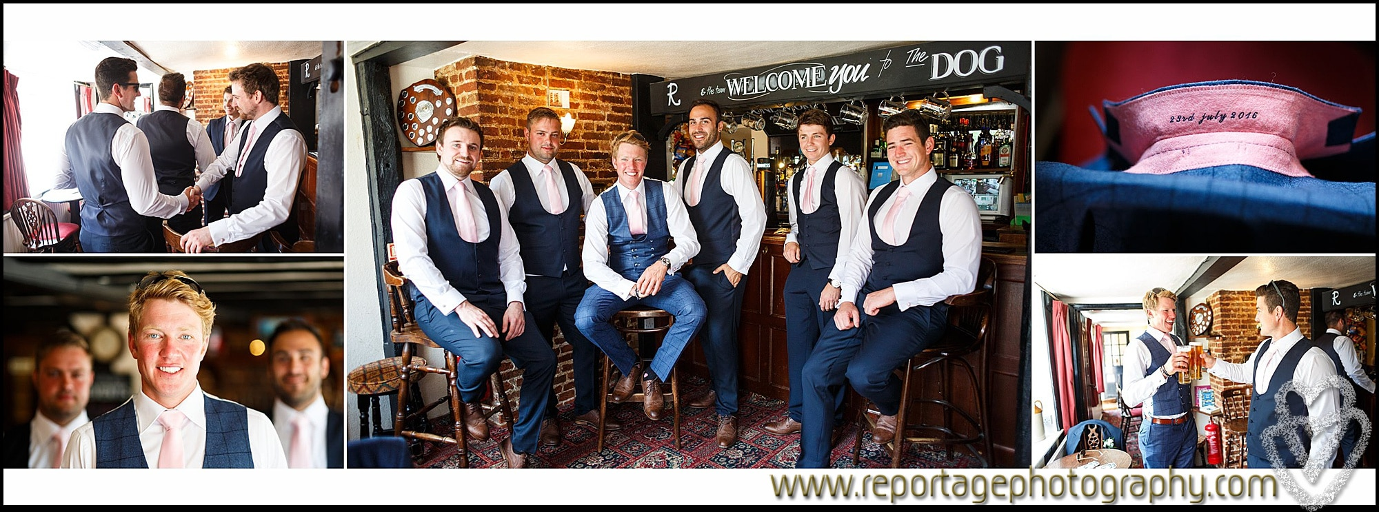 Essex Groom and ushers photography in Essex