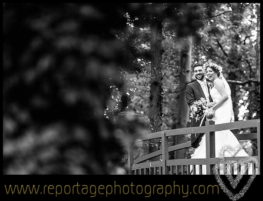 couple on the bridge at Mulberry House