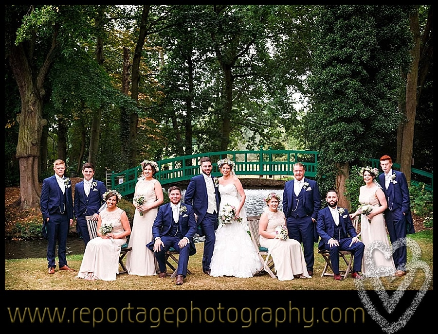 Mulberry House wedding group photograph