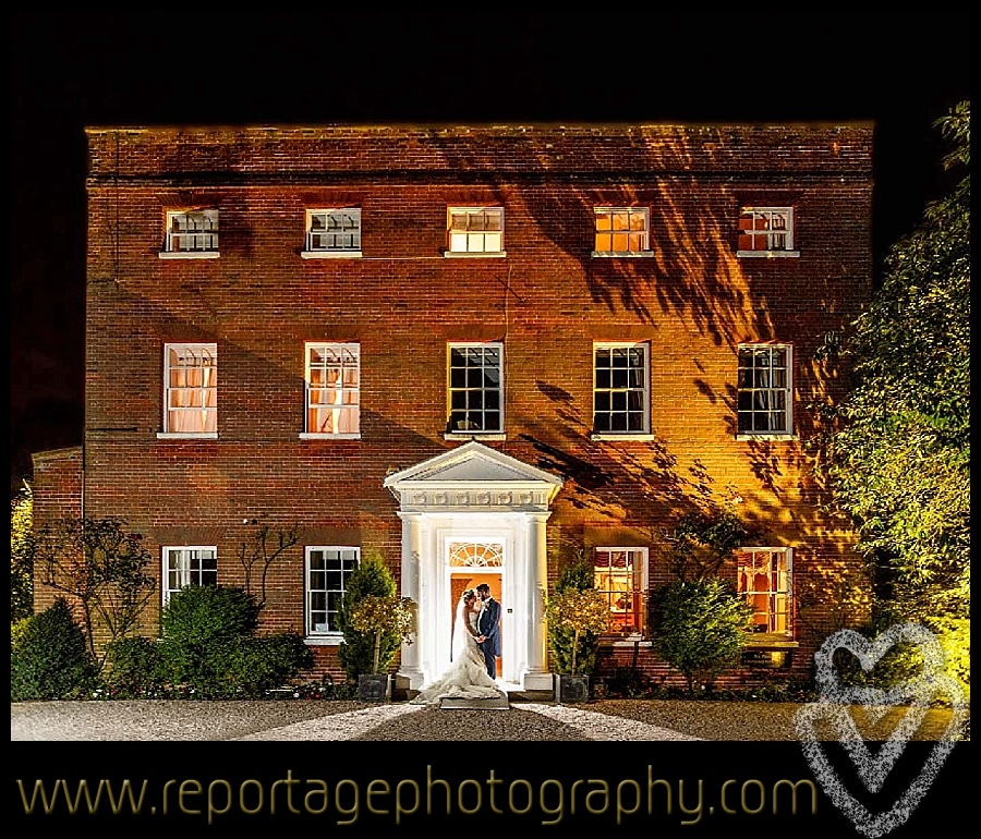 Mulberry House wedding at night